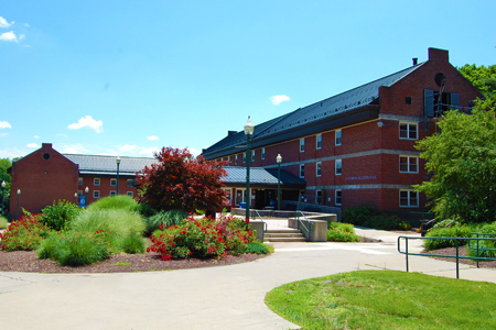 front view of beecher residence hall