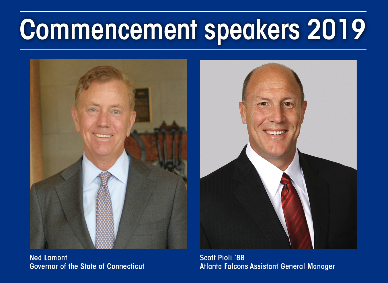 University announces 2019 commencement speakers
