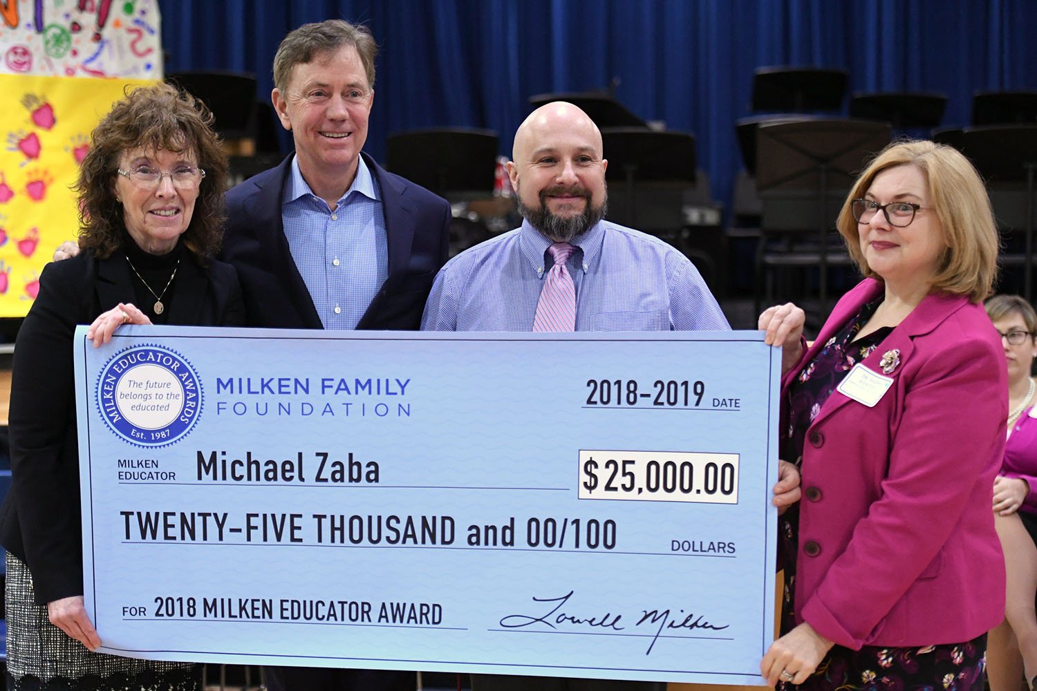 Alumnus Michael Zaba receives Milken Educator Award